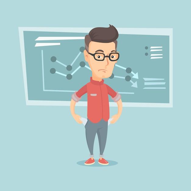 Illustration De L'homme D'affaires En Faillite. Vecteur Premium