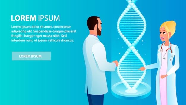 Illustration homme et femme discutant de l'analyse des résultats Vecteur Premium