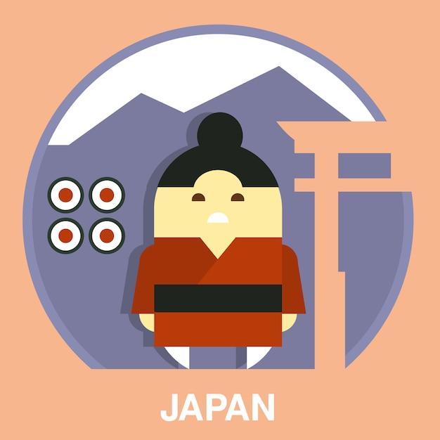 Illustration De L'homme Japonais Vecteur Premium