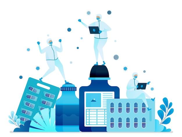 Illustration De L'hôpital Et De La Pharmacie. Vecteur Premium
