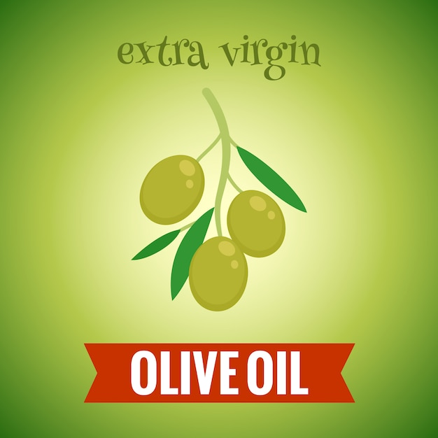 Illustration de l'huile d'olive extra vierge Vecteur gratuit