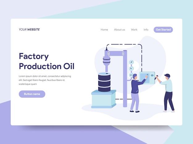 Illustration De L'huile De Production En Usine Vecteur Premium
