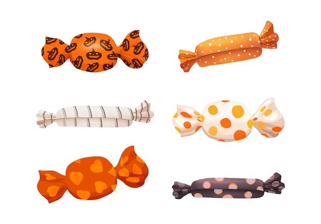 Illustration de l'icône de bonbons thème halloween Vecteur gratuit