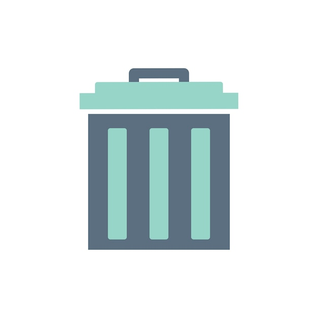 Illustration de l'icône de la corbeille Vecteur gratuit