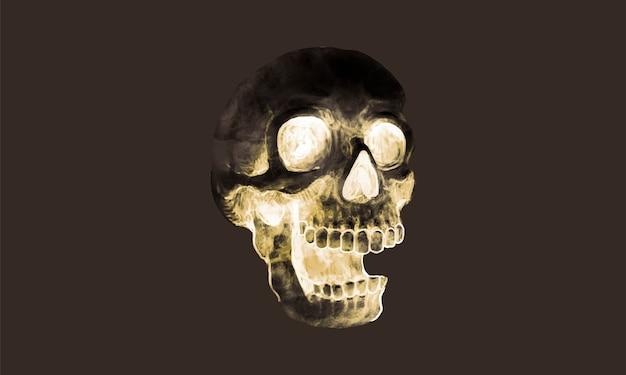 Illustration d'une icône de crâne pour halloween Vecteur gratuit