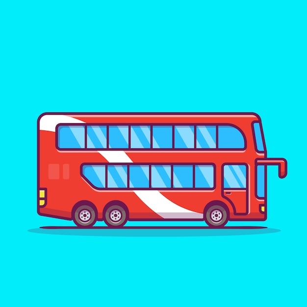 Illustration D'icône De Dessin Animé De Bus à Impériale. Vecteur gratuit