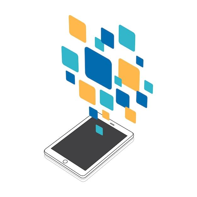 Illustration de l'icône du message Vecteur gratuit