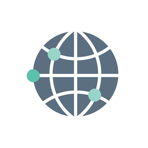 Illustration de l'icône globale Vecteur gratuit