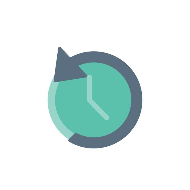 Illustration de l'icône de l'horloge inverse Vecteur gratuit