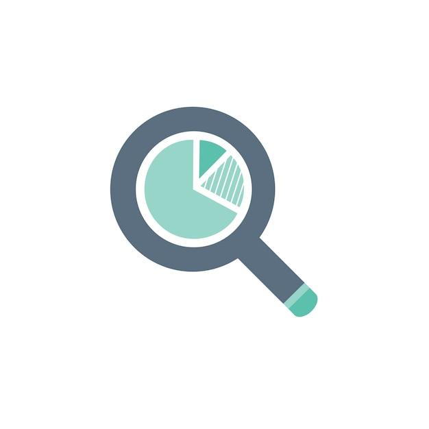 Illustration de l'icône de la loupe Vecteur gratuit