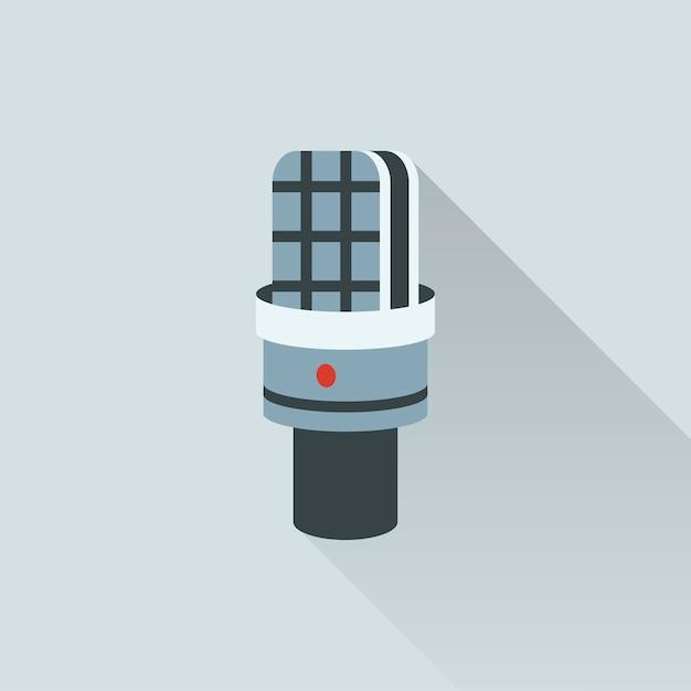 Illustration de l'icône de microphone Vecteur gratuit