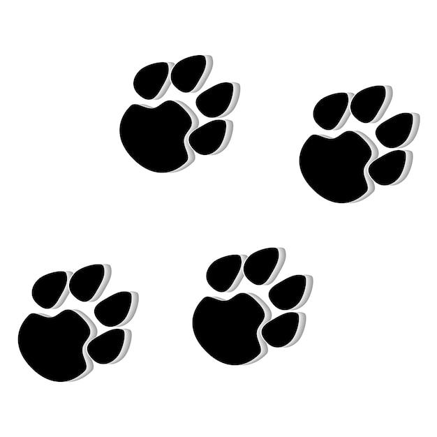 Illustration De L'icône Patte Animale Vecteur Premium