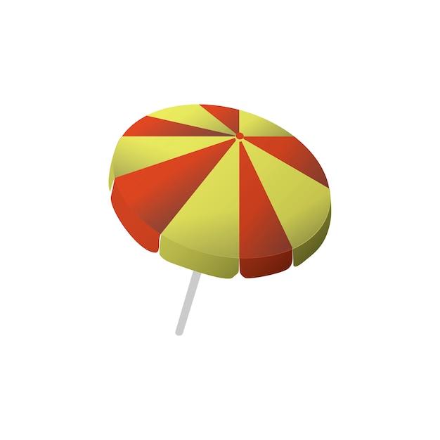 Illustration de l'icône de la plage Vecteur gratuit