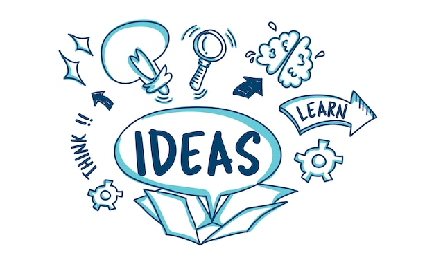 Illustration des idées d'ampoules Vecteur gratuit