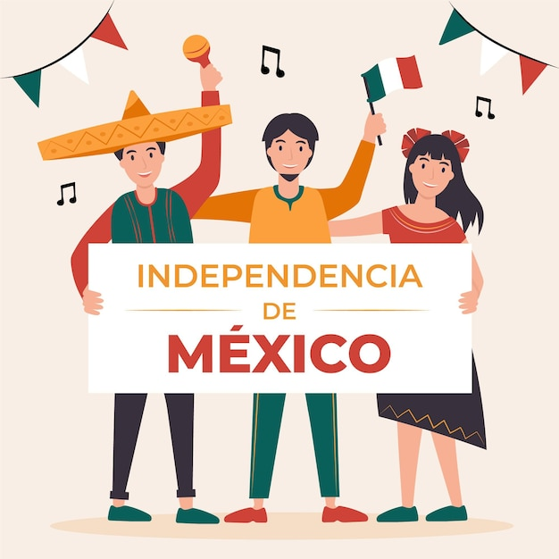 Illustration De L'independencia De Mexico Vecteur gratuit