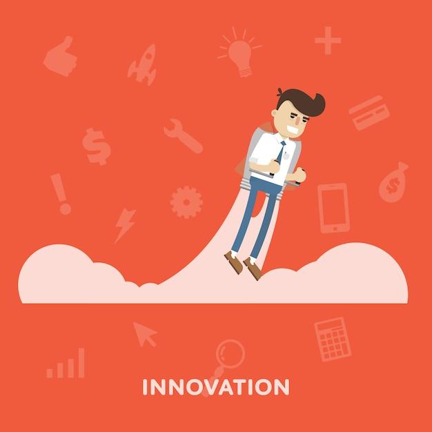 Illustration de l'innovation Vecteur Premium