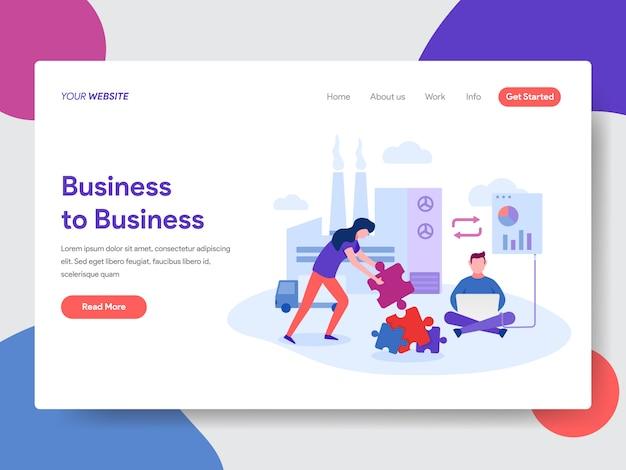 Illustration interentreprises pour la page web Vecteur Premium