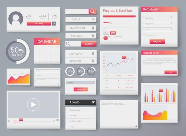 Illustration D'interface De Modèle D'élément Web Vecteur gratuit