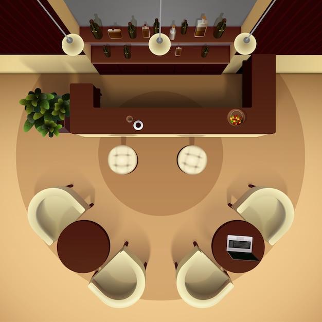 Illustration intérieure de la salle Vecteur gratuit