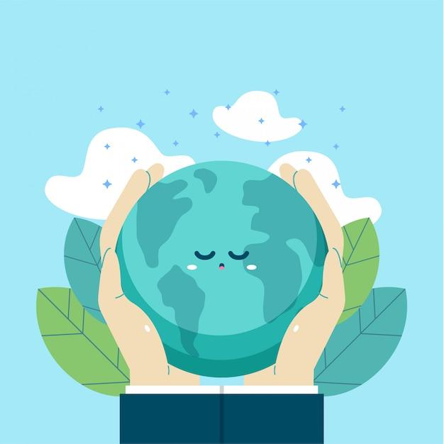 Illustration internationale du jour de la terre Vecteur Premium