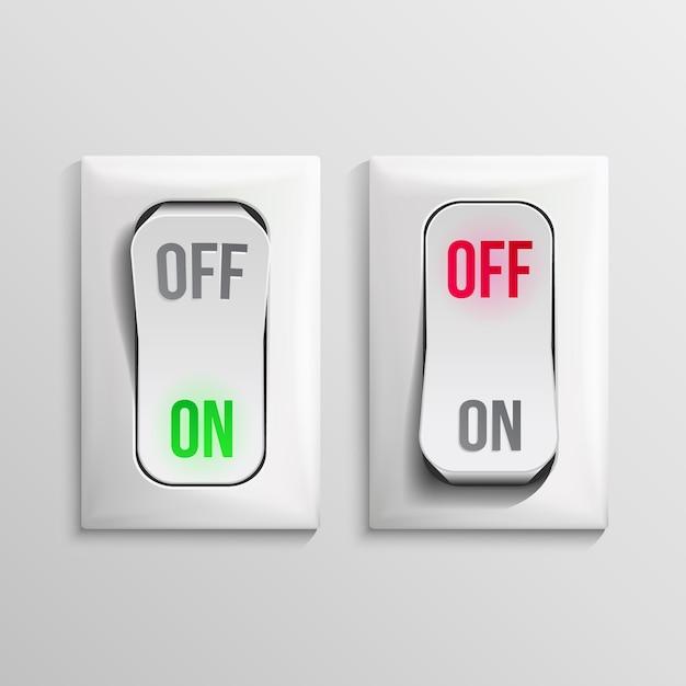 Illustration De L'interrupteur à Bascule Vecteur Premium