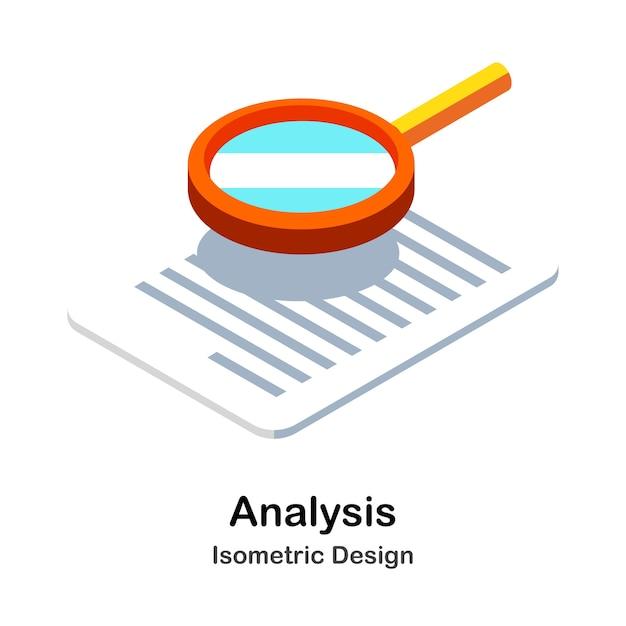 Illustration isométrique d'analyse Vecteur Premium