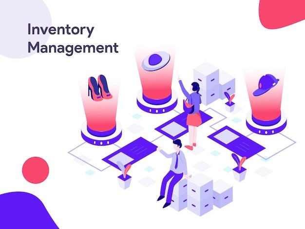 Illustration isométrique de la gestion des stocks Vecteur Premium