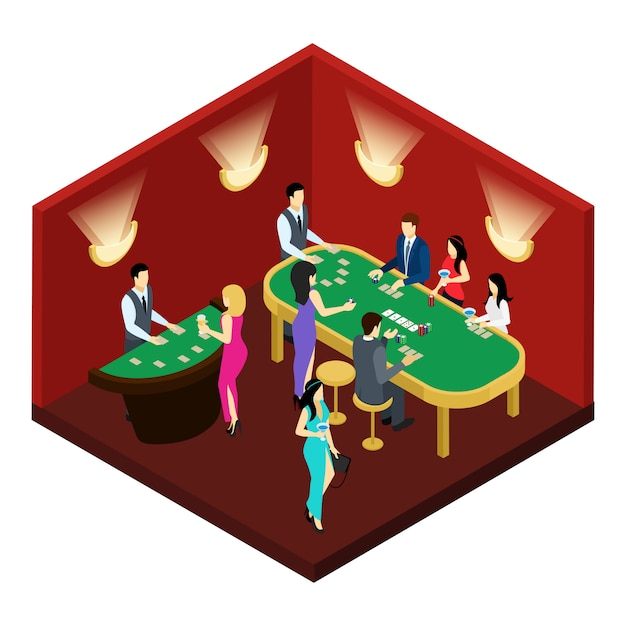 Illustration isométrique de poker Vecteur gratuit