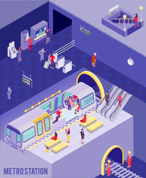 Illustration Isométrique Souterraine Vecteur gratuit