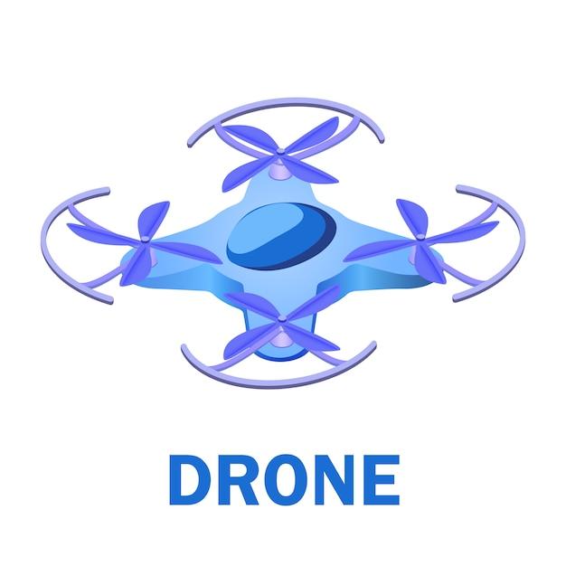 Illustration isométrique de véhicule aérien sans pilote Vecteur Premium