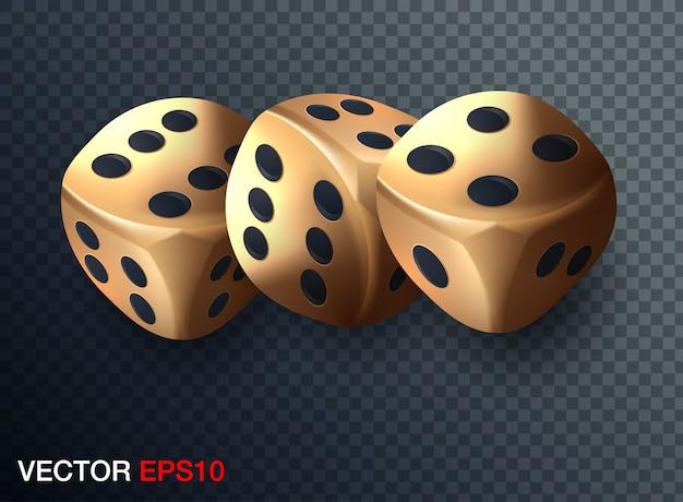 Illustration de jetons de casino Vecteur Premium