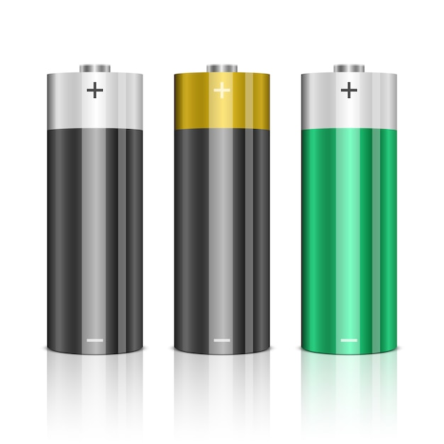 Illustration De Jeu De Batterie Sur Fond Blanc Vecteur Premium
