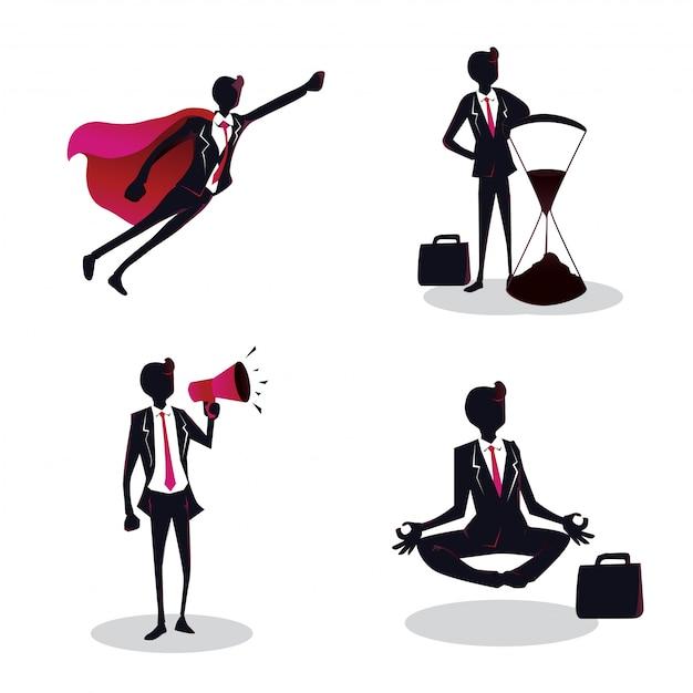 Illustration De Jeune Entrepreneur Créatif Concept Vecteur Premium