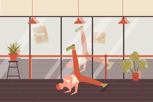 Illustration De Jeune Homme Dansant. Vecteur Premium
