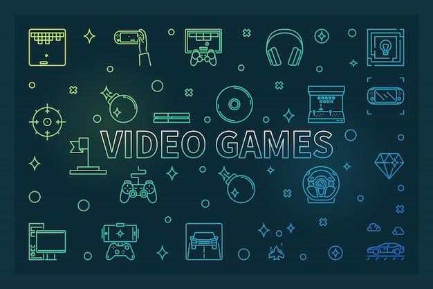 Illustration De Jeux Vidéo Vecteur Premium