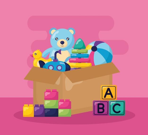 Illustration De Jouets Pour Enfants Vecteur gratuit