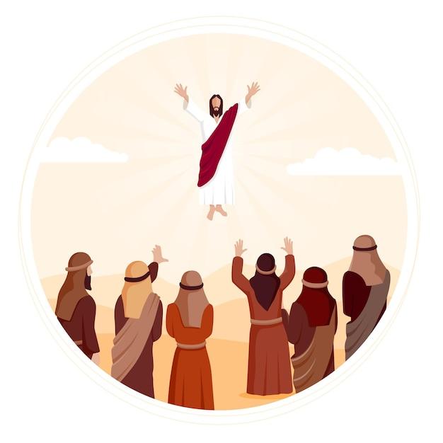 Illustration De Jour D'ascension Design Plat Vecteur gratuit