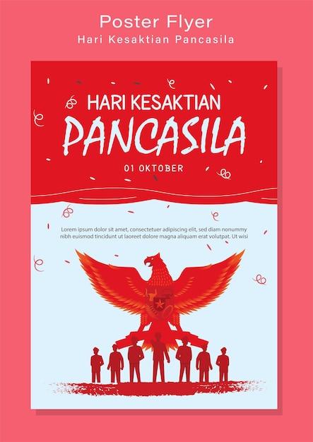 Illustration De Jour De Pancasila Heureux Vecteur Premium