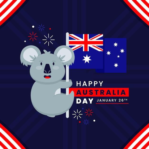 Illustration De Jour Plat Australie Vecteur gratuit