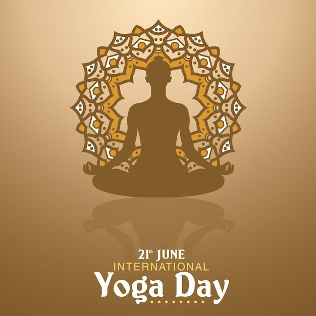 Illustration de jour de yoga Vecteur Premium