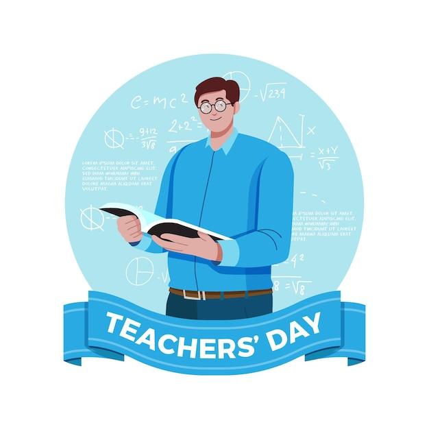 Illustration De La Journée Des Enseignants Vecteur Premium