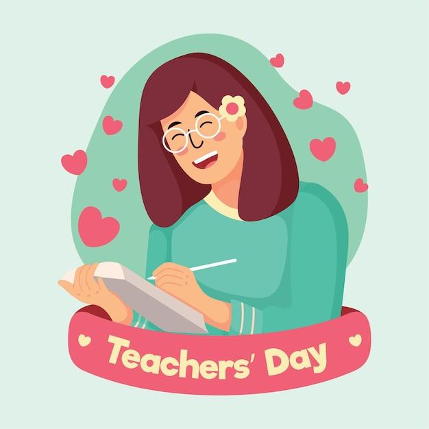 Illustration De La Journée Des Enseignants Vecteur gratuit