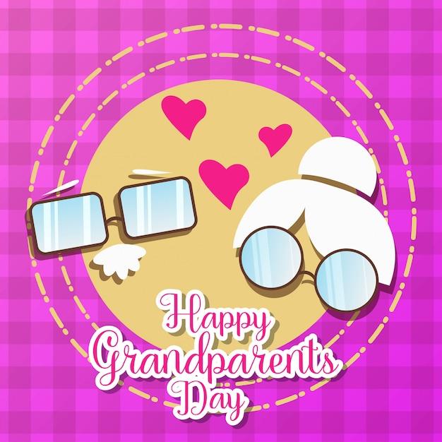 Illustration de la journée des grands-parents Vecteur Premium
