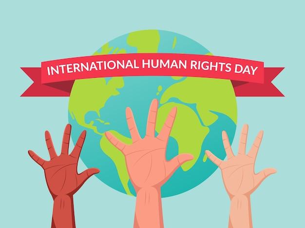 Illustration De La Journée Internationale Des Droits De L'homme Vecteur Premium