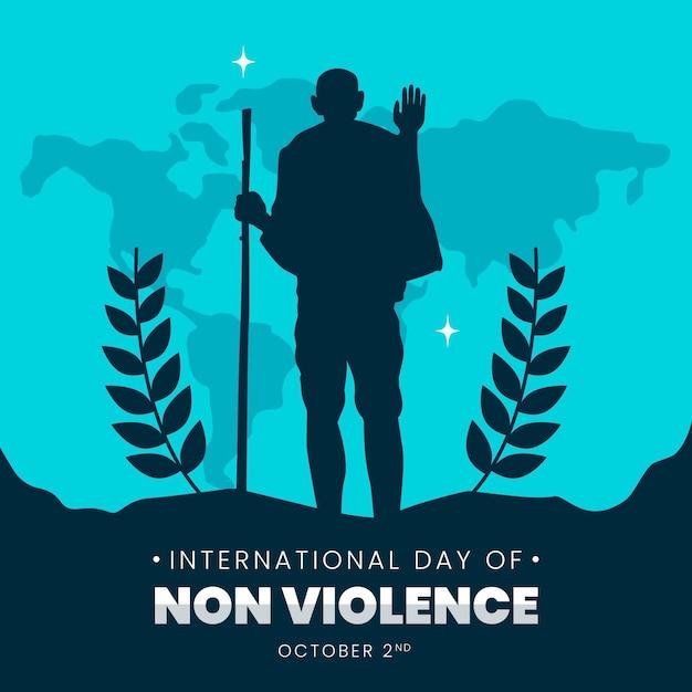 Illustration De La Journée Internationale De La Non-violence Vecteur gratuit