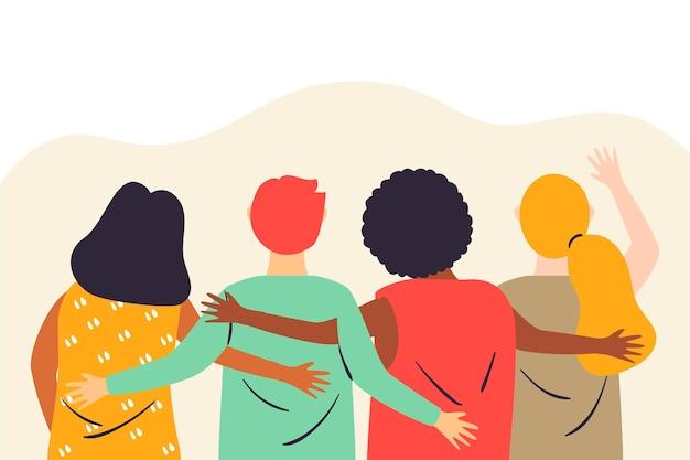 Illustration De La Journée De La Jeunesse Avec Des Gens Vecteur gratuit