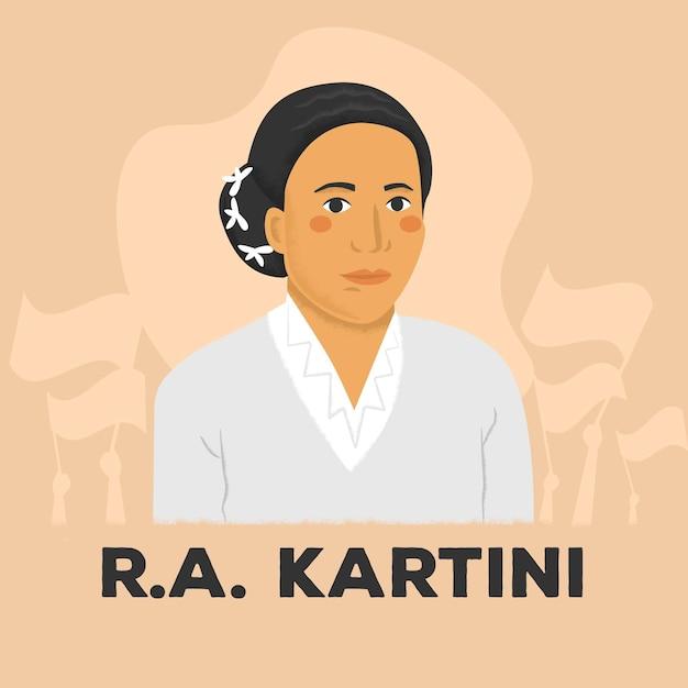 Illustration De La Journée Kartini Vecteur gratuit