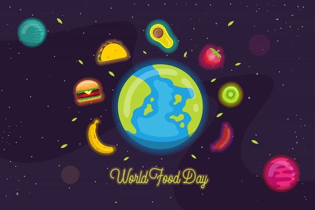 Illustration de la journée mondiale de l'alimentation Vecteur Premium