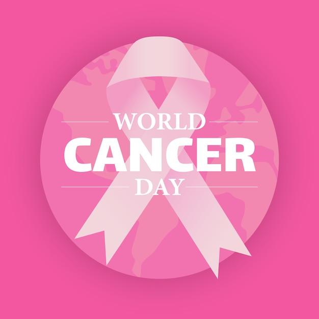 Illustration De La Journée Mondiale Contre Le Cancer Vecteur Premium