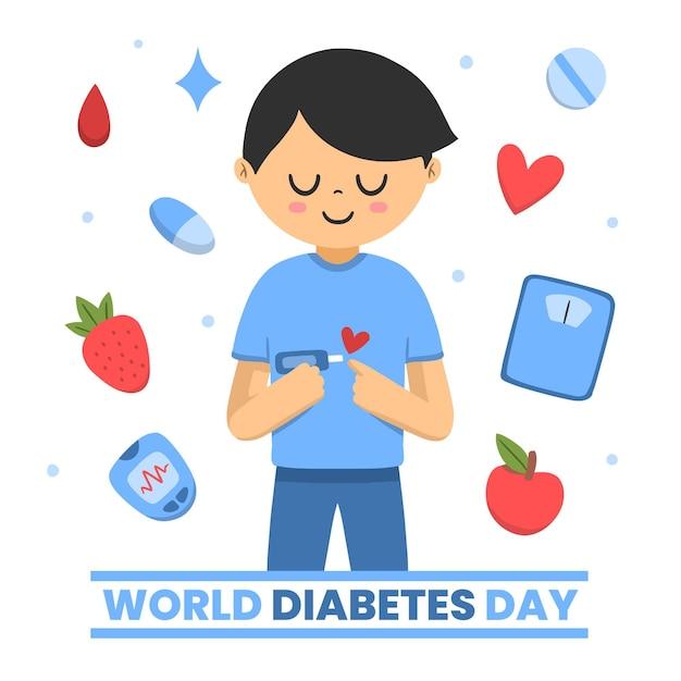 Illustration De La Journée Mondiale Du Diabète Vecteur Premium